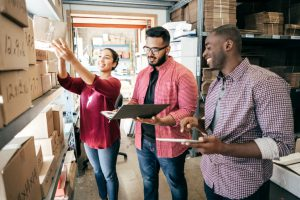 manufacturing startup employees discuss public relations