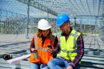 Two construction professionals share project updates on social media