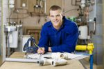 plumber is happy after converting his business to a franchise
