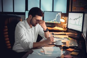 B2B executive upset over unexpected crisis